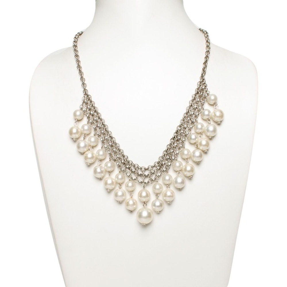 Beautiful Pearl Chain Necklace by Sangeeta Enterprises - Fashion Jewellery suppliers in India