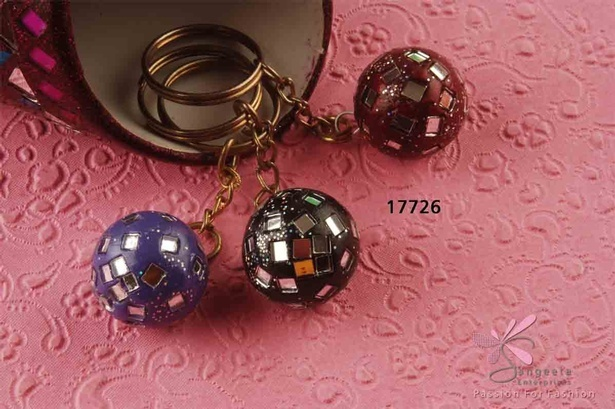 Lac and glass keychains available at Sangeeta Enterprises - Fashion Accessories Manufacturer India