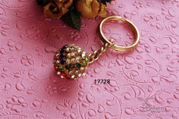 Diamond ball keyring by Sangeeta Enterprises - Fashion Accessories Manufacturer India