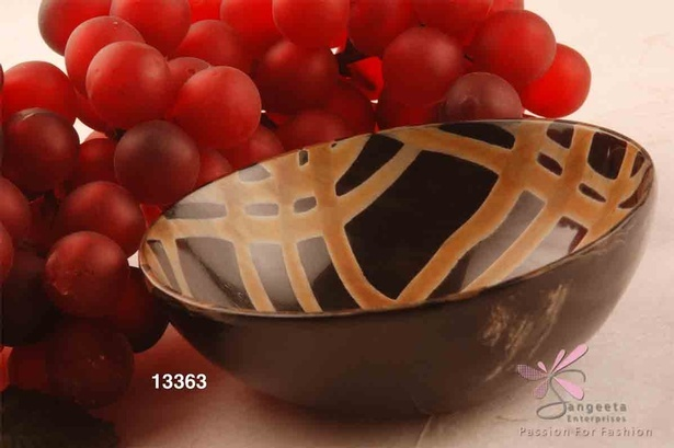 Horn bowl in brown colour - Fruit Bowls by Sangeeta Enterprises