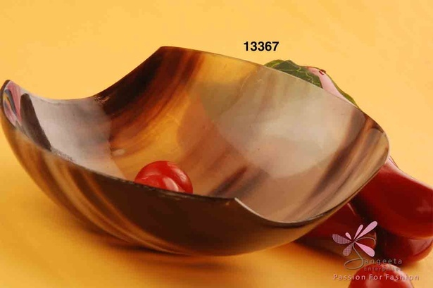 Honey and dark brown bowl made of horn - Fruit Bowls by Sangeeta Enterprises