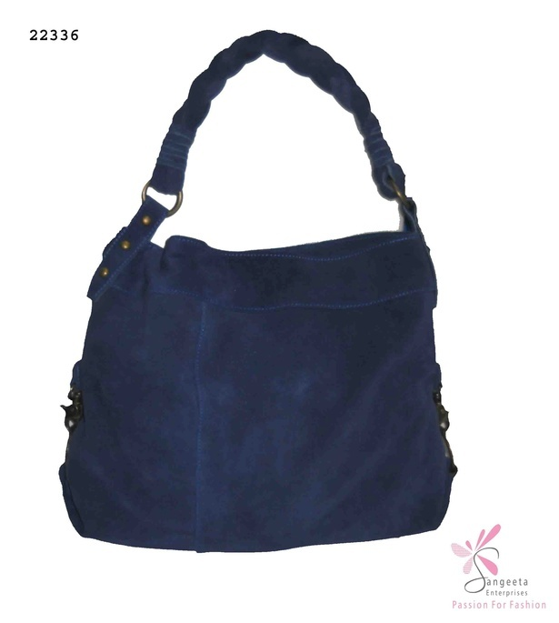 Smart and trendy bag in dark blue colour - Hand Bags Online India at Sangeeta Enterprises