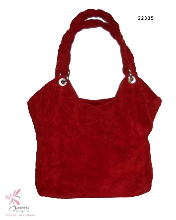 Trendy hand bag in red colour - Hand Bags Online India at Sangeeta Enterprises