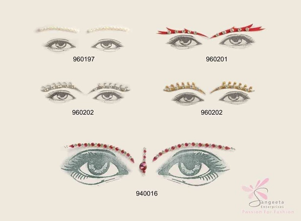 Eyebrow tattoos of glass beads at Sangeeta Enterprises