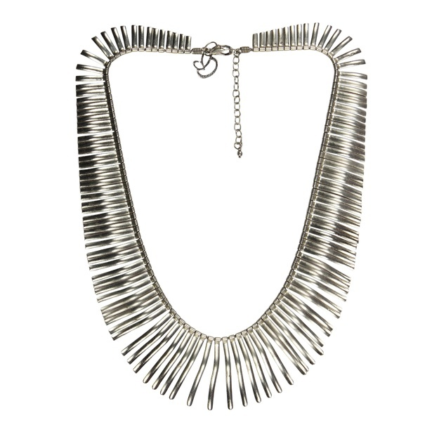 Spiral Alloy Metal Silver Choker Necklace at Sangeeta Enterprises