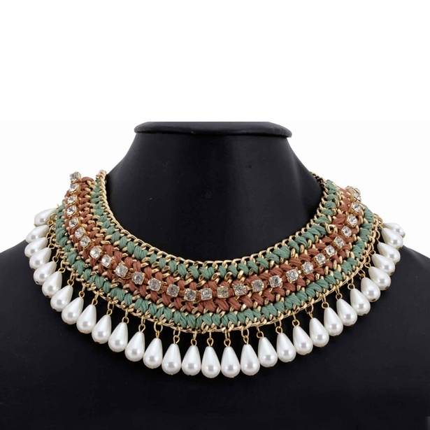 Charming Loop Multi-Color Choker Necklace at Sangeeta Enterprises
