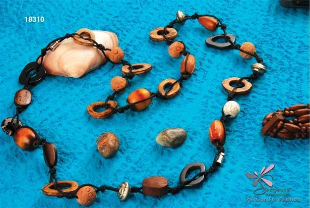 Fancy wooden necklace at Sangeeta Enterprises - Fashion Jewellery Manufacturers India