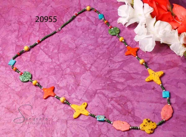 Seed beads multicolour necklace at Sangeeta Enterprises - Fashion Jewellery Suppliers India