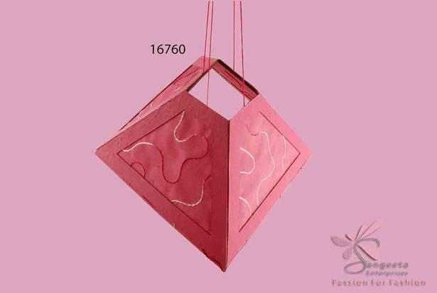 Delectable handmade paper lantern in dark pink colour - Home decor products by Sangeeta Enterprises