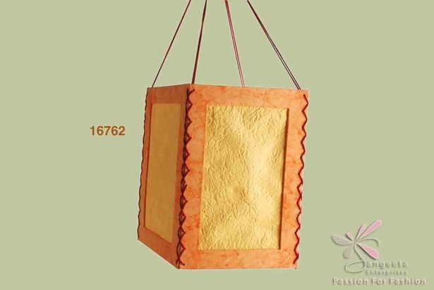 Pastel Yellow Handmade paper lantern - Home decor products by Sangeeta Enterprises
