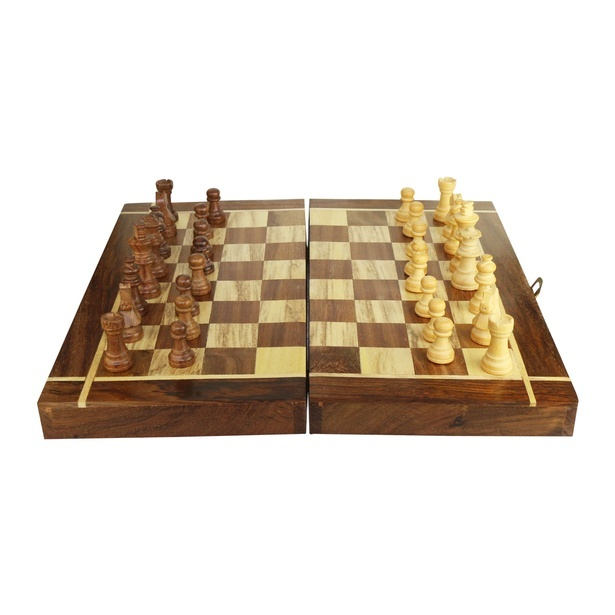 The Natural Chestnut Chess Board - Wooden Toys by Sangeeta Enterprises