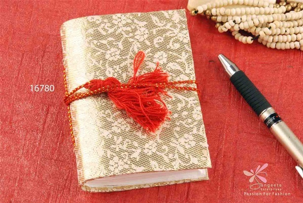Fabric Bahi notebook in handmade paper at  Sangeeta Enterprises