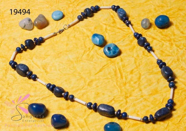 Fancy mud beads necklace at Sangeeta Enterprises - India Fashion Jewellery Suppliers