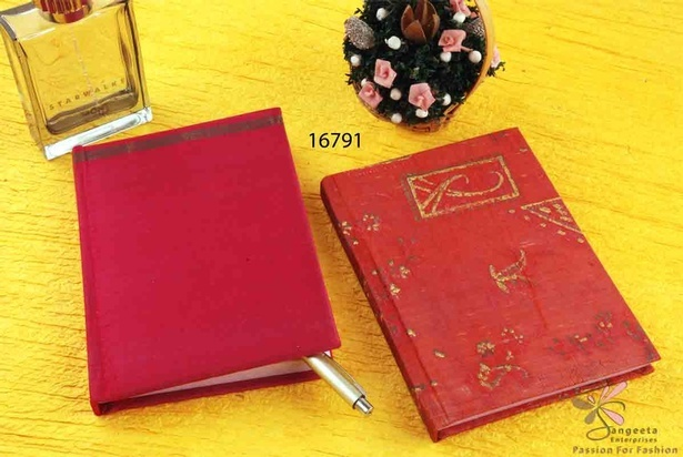 Fabric notebook with handmade paper pages