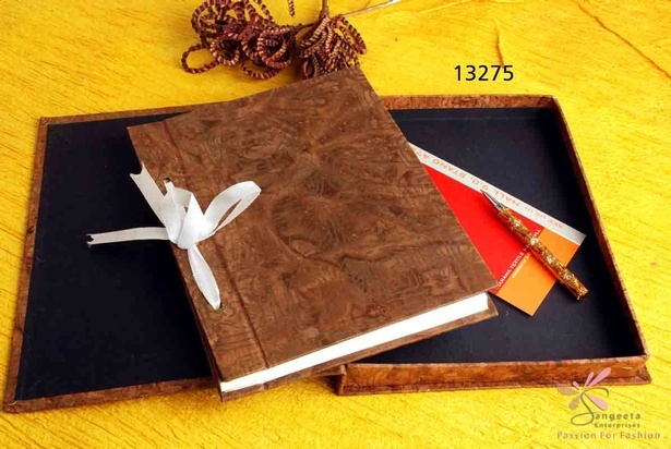 Brown Handmade paper photo album by Sangeeta Enterprises