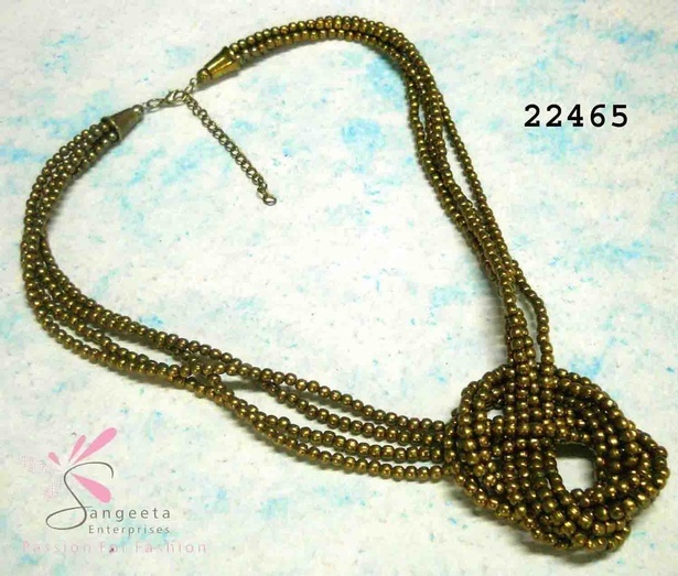 An adorable brass necklace - Short Necklaces Online India