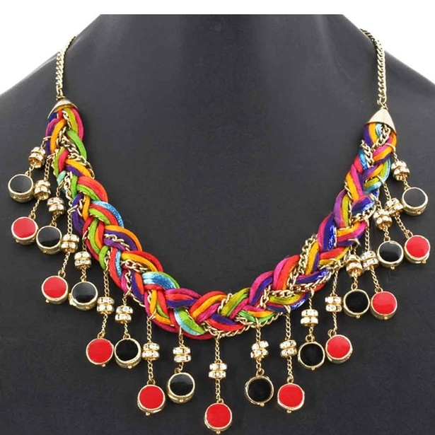 Braided Necklace with Tassels at Sangeeta Enterprises