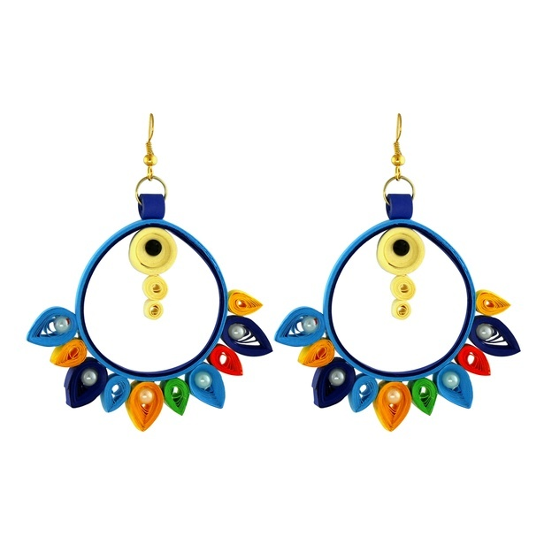 Handmade Multi-Color Quilling Earring