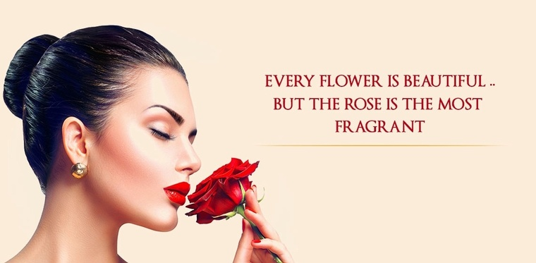 Every flower is beautiful but the rose is the most fragrant